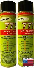MARINE UPHOLSTERY GLUE POLYMAT 2 CANS 12OZ INDUSTRIAL HIGH TACK FOAM SPRAY GLUE