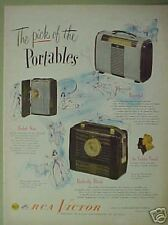 "1948 RCA Victor Portables""Golden Throat ""Radio AC-DC AD"
