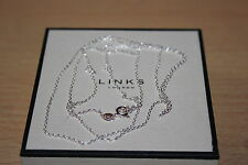 Genuine enlaces de Londres DC Cable De Plata Esterlina Colgante Collar 85 cm-Nuevo Y En Caja