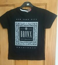 Boys black t-shirt with logo and BRONX wording.  Age 7/8yrs
