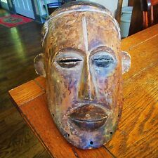 Vintage African Mende Man's Wooden Helmet Mask Sowei Sande Society Liberia