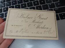 More details for aberdeen 1872  court sized postcard  brebner  grant  tea merchants