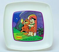 Fred Flintstone Plate Vintage Hanna Barbera Dennys 1988 Series 1 Putting Cat Out