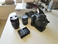 Canon  EOS 60D 18.0MP Digital SLR Camera, Lenses, Battery Grip (BUNDLE) - USED