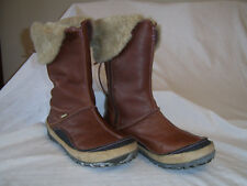 Womens/ladies Merrell size 6 (39) brown leather mid calf boots VGC!