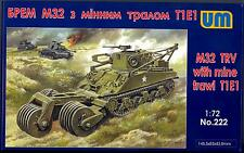 UM-MT Models 1/72 American M32 TANK RECOVERY VEHICLE with T1E1 MINE TRAWL