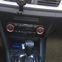 Regler Lüftung 3er Set Aluminium Blende Rahmen Accessoire für Mazda CX-5 KF