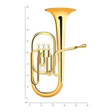 Gold Tuba Koperen instrumenten Muursticker WS-46254