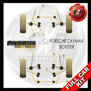 Fits Porsche Cayman 987C (05 on)  Powerflex Black Complete Bush Kit