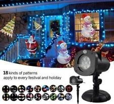 Christmas Outside Projector Outdoor Indoor 18 Slides Bright LED Light Waterproof