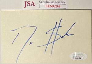 Deion Sanders signed 3x5 Index Card - JSA #LL60284 (Primetime/Cowboys/Yankees)