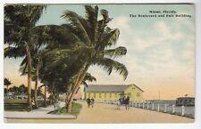 [50211] 1913 POSTCARD THE BOULEVARD AND FAIR BUILDING in MIAMI, FLORIDA
