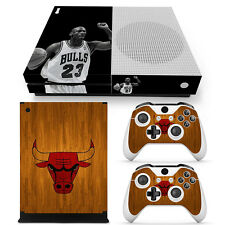 Xbox One S Console, Controller and Kinect Skin Set - NBA Jordan Bulls