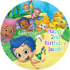 BUBBLE Guppies Round Edible CAKE Decoration Image ICING Topper Personalized