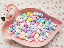 20pcs Mix Pastel Colour Sweet Beads Kawaii Acrylic Jewellery Bracelet Craft DIY