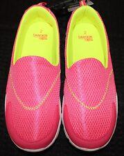 Danskin Now Youth/Girls Athletics Sz. 2 Hot Pink/Yellow/White Tennis Shoes