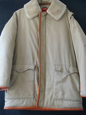 Vintage Original Inglés de tela de algodón de abrigo Chaqueta de Plumón canadiense Grenfell