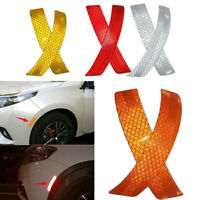 2Pcs Auto Car Bumper Reflective Warning Strip Decal Stickers Auto Accessories YN