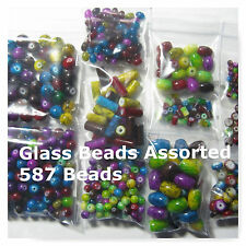 Marbled Jewel  Mixed Lot Assortd Sizes Colors 587 Glass Spacer  Beads  4mm-14mm