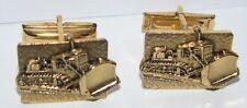 Allis Chalmers Ac Crawler Tractor Bulldozer Dozer Cuff Links Gold Tone Set of 2
