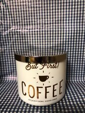 Bath & Body Works But First ! COFFEE Scented Large 3 Wick 14.5 oz Jar Candle