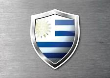 Uruguay flag shield sticker 3d effect quality 7 year water & fade proof