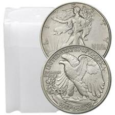 Rollo de 20 $10 cara 90% plata Walking Liberty Media dólares XF para au