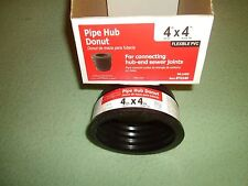 "AMERICAN BRAND PIPE HUB DONUT 4"" X 4"" FLEXABLE PVC - Schedule 40"