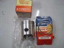 KAWASAKI NOS PISTON & RINGS STD SIZE 13001-1006 & 13008-5010 KE125 A6 1979