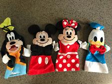 Set of 4 Plush Disney Character Hand Puppets Minnie Mickey Donald Goofy