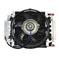 """5"""" Oil Cooler with 10"""" Electric Fan and 3/8"""" Fitting 48"""" L Hose Kit"""
