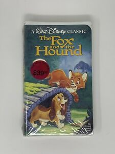 Walt Disney Black Diamond Classic The Fox and the Hound VHS - Factory Sealed