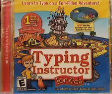 Typing Instructor For Kids CD-ROM Scholastic Learn to Type in English Spanish