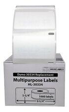 DYMO LW 30334 Medium Multipurpose Labels - (6) Rolls of 1000 - FREE & FAST SHIP
