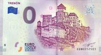 BILLET 0 EURO TRENCIN AVEC ACCENT SUR LE I SLOVAQUIE 2019-1 NUMERO DIVERS