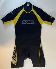 Men's Bare Aqua Lite Series Yellow and Black Shorty Neoprene 2.5mm Wetsuit Sz M