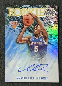 Panini 2020-21 Hoops Immanuel Quickley Rookie Ink Auto