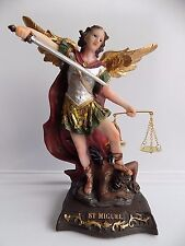 """St. Michael Statue / Figurine  8"""" - San Miguel Arcangel figurine de 20 cm.#63010"""