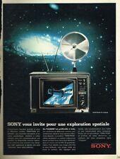 H- Publicité Advertising 1970 Le Téléviseur Trinitron KV Sony