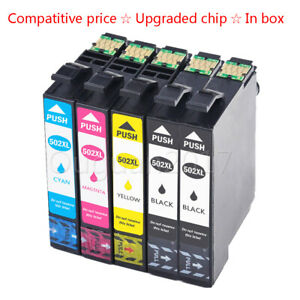502 XL Compatible Ink Cartridges with Epson XP-5100 XP-5105 WorkForce WF-2860DWF