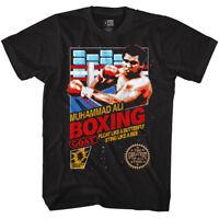 Muhammad Ali T-Shirt Retro Game Cover Black Tee
