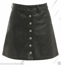 Faux Leather A-line Skirts for Women