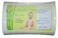 1 Roll Bamboo Disposable Biodegradable Flushable Liners For Cloth Diapers