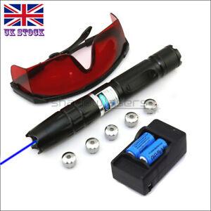 BQ2-C 450nm 1MW Visible Blue Laser Pointer High Power Laser Torch Lazer Pen UK