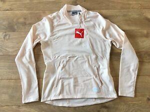 Puma Women's Warm Up 1/4 Side Zip Jacket Rosewater Heather SZ S ( 595851 02 )