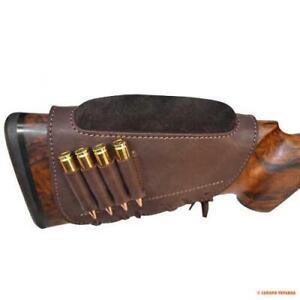 Buttstock Cartridge Shotgun Leather Cheek Rest Hunting Holder Rifle 30-30 .308