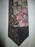 Multi Colored Wild Abstract Men's Neck Tie Surrey Flowers