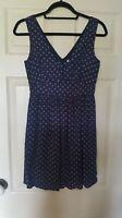 Jack Wills size 8 sleeveless dress in blue