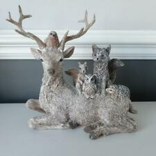 Gorgeous Woodland Stag And Forest Friends Christmas Ornament