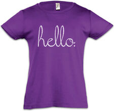 Hello II Kinder Mädchen T-Shirt Fun Geek Nerd Computer Social Interaction Hallo